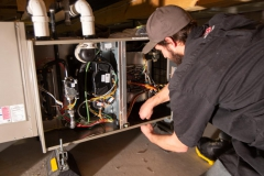 Horizontal furnace install in crawl space