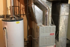 Gas furnace and gas hot water tank