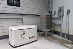 Generac natural gas back up generator and Bryant heat pump