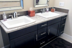 Kohler Archer Basins With Delta Dryden Faucets